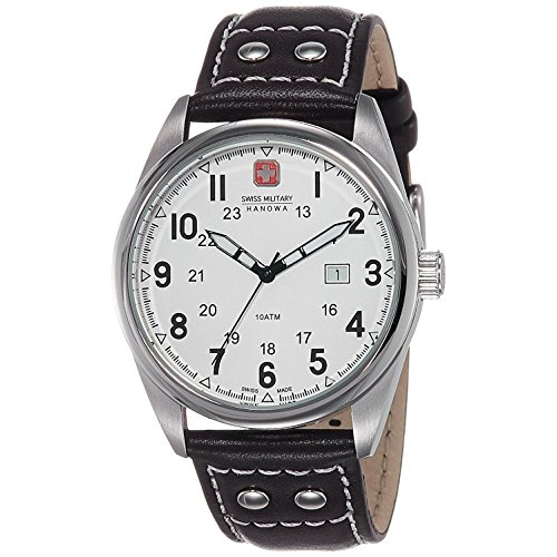 Swiss Military Hanowa Men s Sergeant 06-4181-04-001 Brown Leather Quartz  Watch with White Dial dcd870a1153